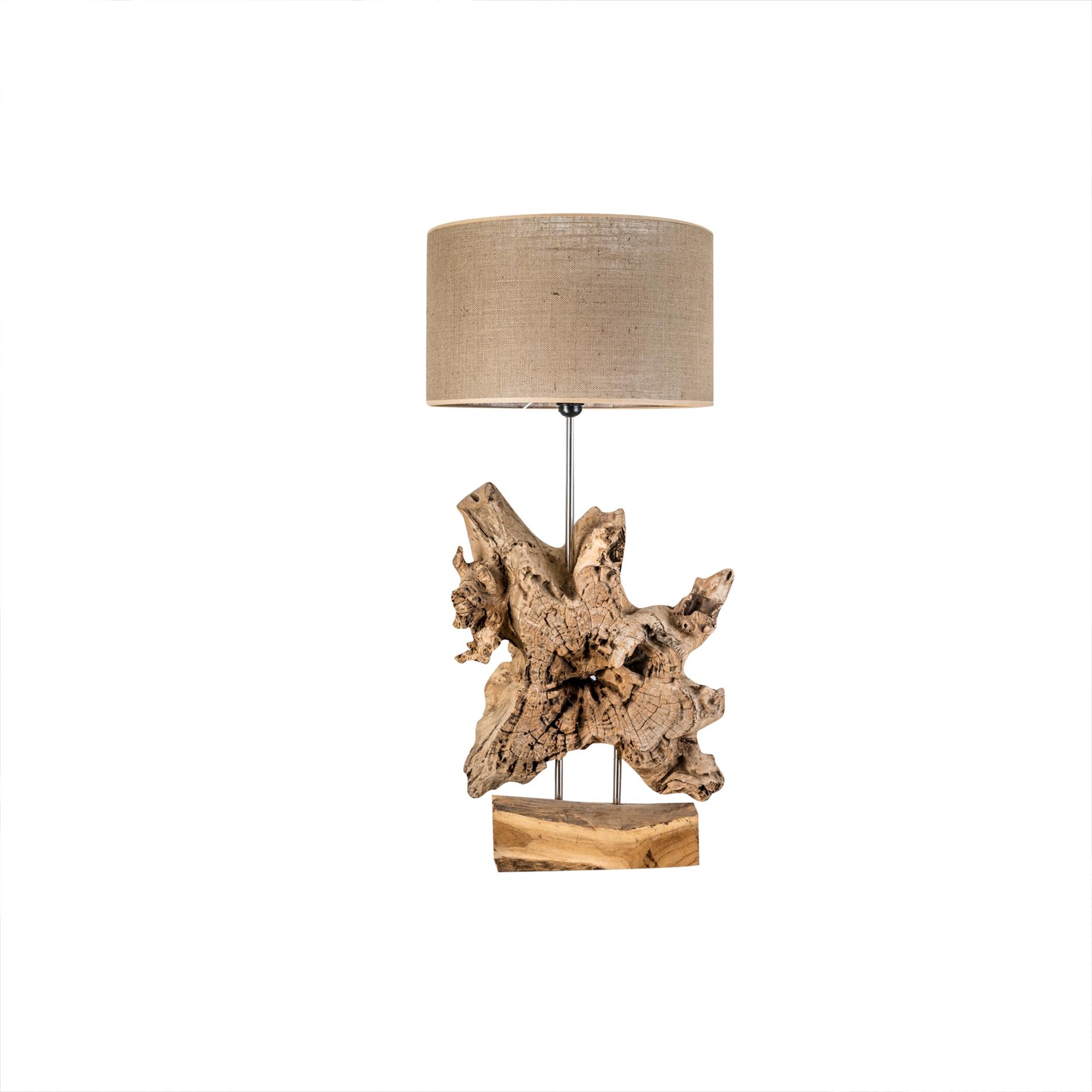 lampara pie tronco