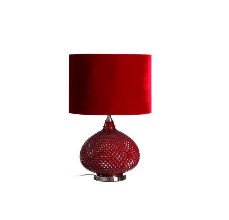 lampara terciopelo rojo