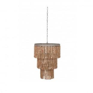 Lámpara bolas madera 2