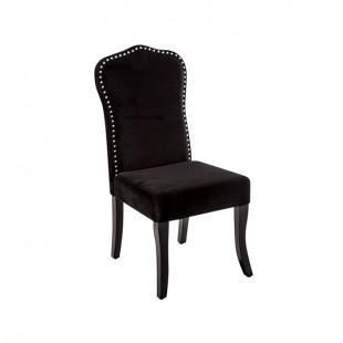 silla terciopelo black