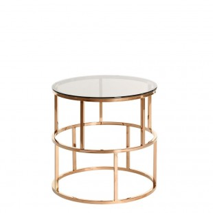 mesa bronce cuadricula