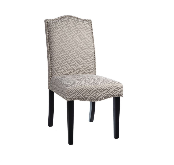 silla estamapado geometrico