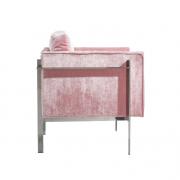 sillon terciopelo rosa