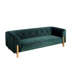 sofa nordico terciopelo verde
