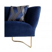 sofa terciopelo 2 azul