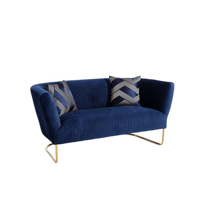 sofa terciopelo azul
