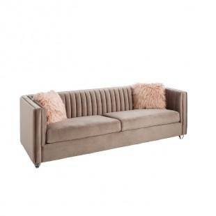 sofa terciopelo rosa