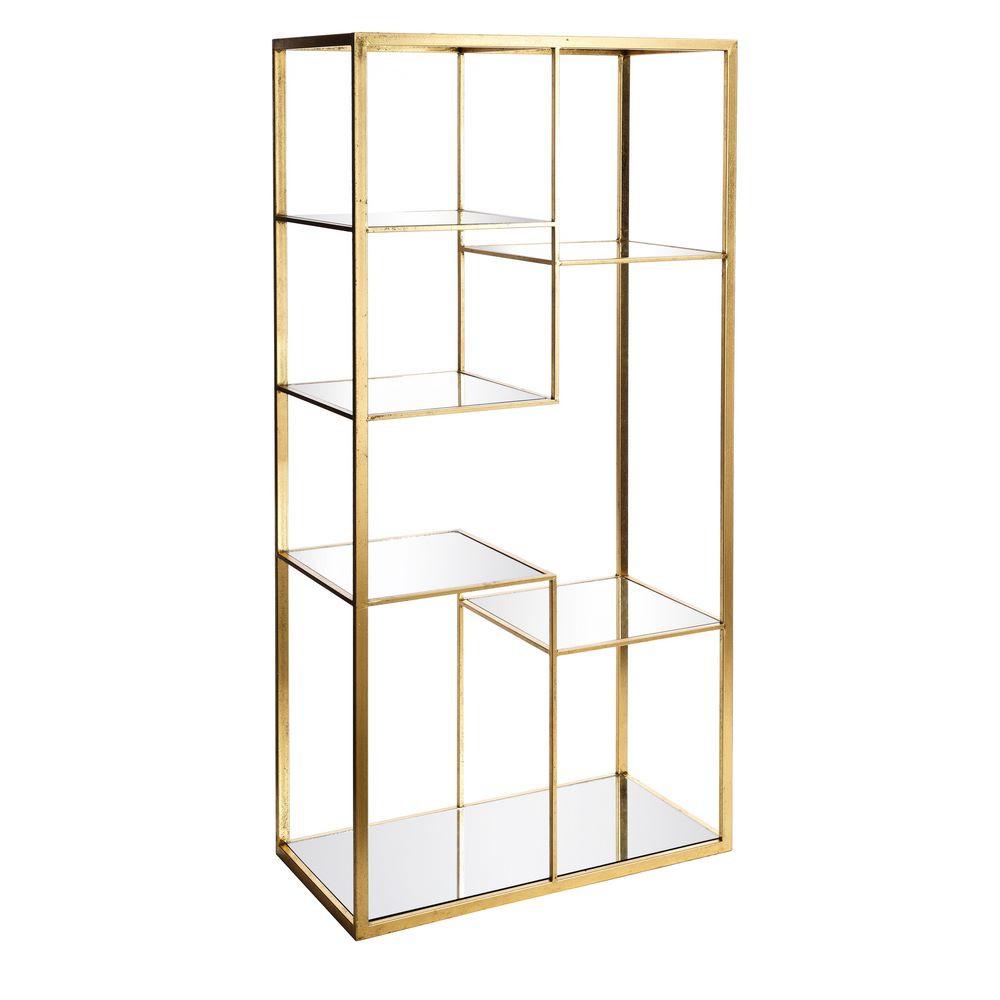 estanteria cristal dorado