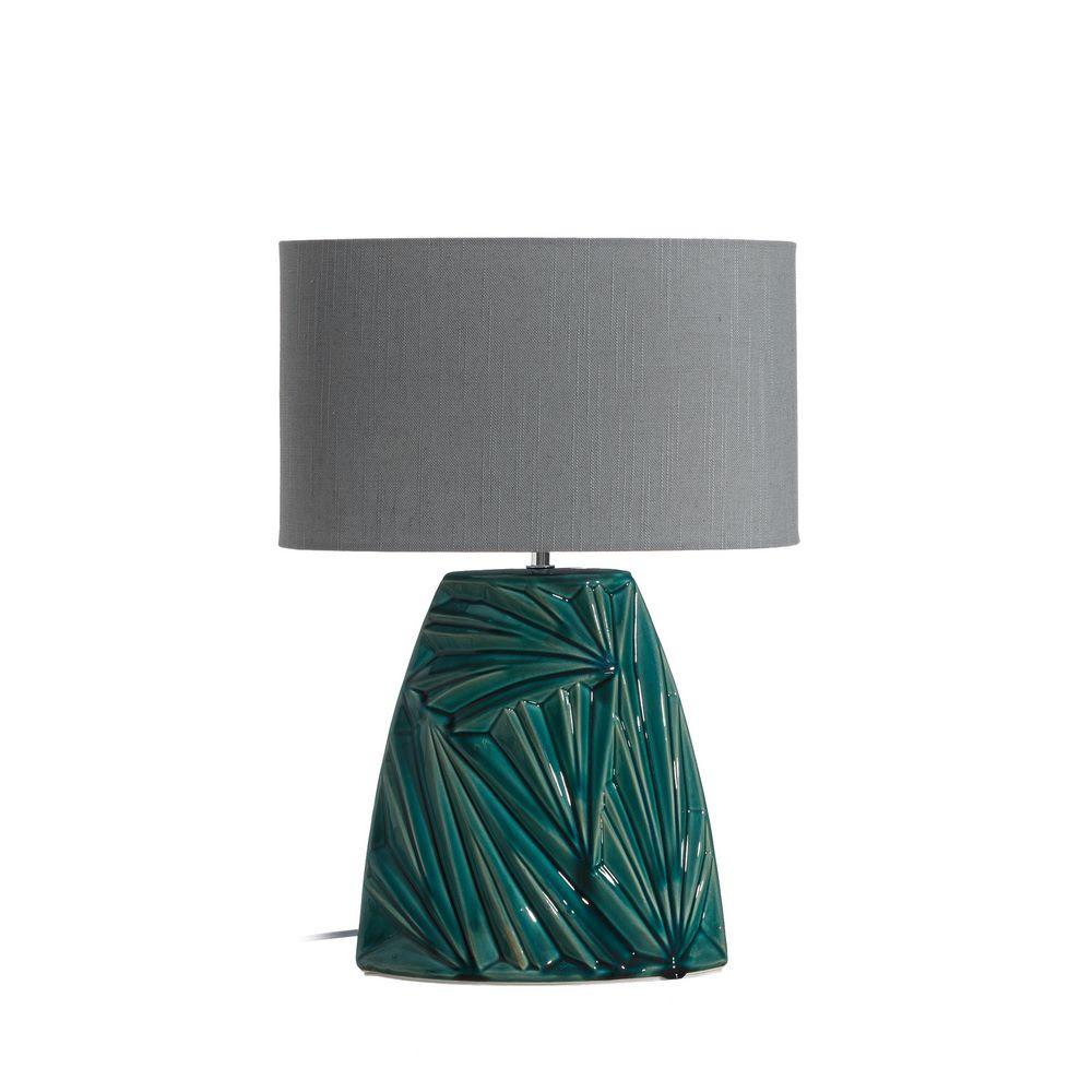 lampara sobremesa turquesa