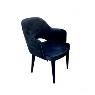 silla terciopelo azul con brazos