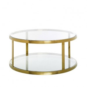 mesa dorada circular