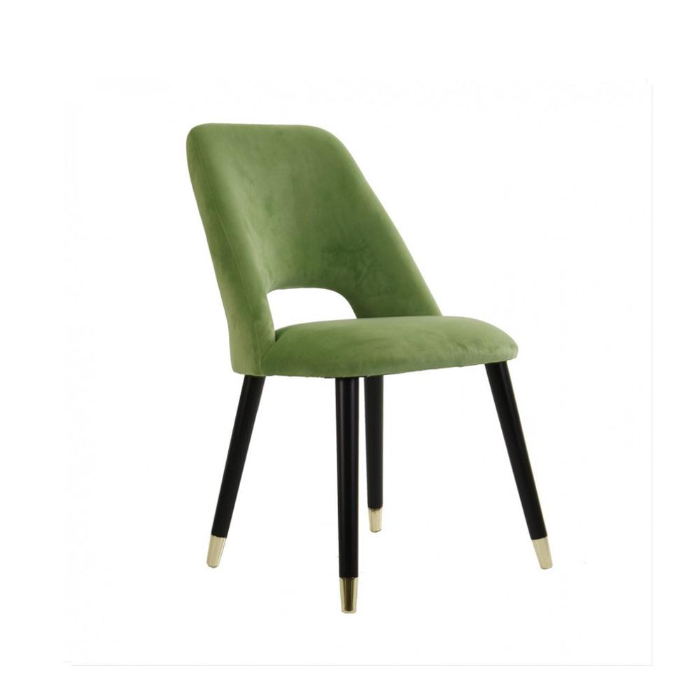 silla verde tericiopelo