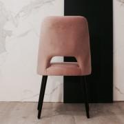 silla terciopelo rosa