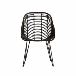 silla mimbre black