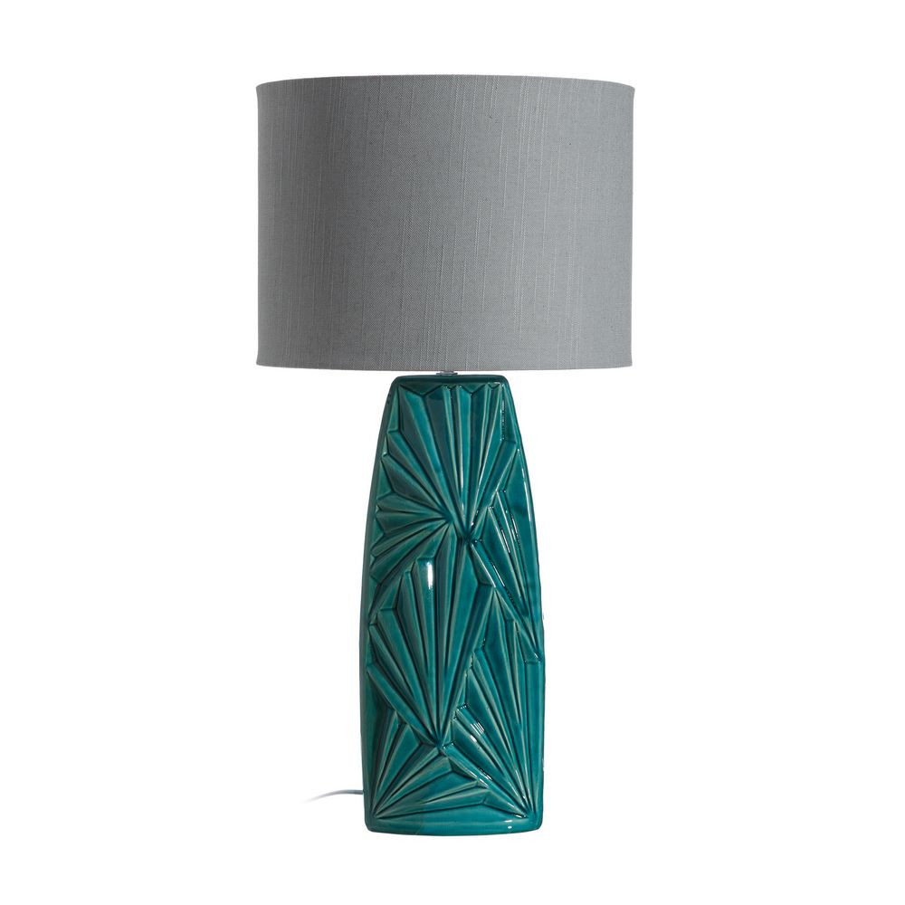 lámpara turquesa