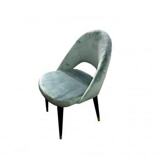 silla terciopelo azul art deco patas negras